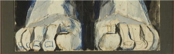Cathedral tapestry studies by Graham Sutherland