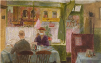 Café by James Fitton (1899-1982)