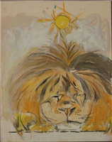Sleepy Lion with Sun, by Graham Sutherland, 1952 - 1958