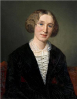 Portrait of Mary Ann Evans aged 30. Oil painting by Francois D'Albert Durade, 1880-1881.