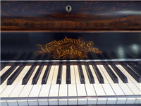Close up of George Eliot's Broadwood piano