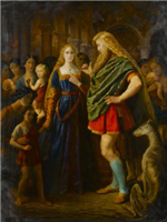 Lady Godiva and Earl Leofric by John Clifton (working 1848 to 1885)