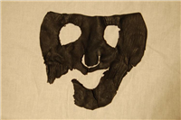 Leather face mask. This mask was probably used in the Coventry Mystery Plays. It even has eyebrows!