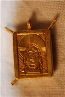 This gold pendant was found at Coundon and shows Christ as the man of sorrows. It was a devotional pendant worn by a pious woman in the 1400s.