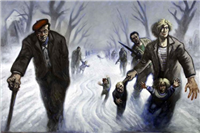 Snow Road by Peter Howson, 1995. Purchased with the assistance of the Heritage Lottery Fund