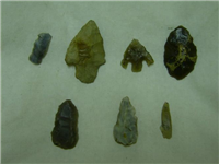 Selection of flint arrow heads from Coventry.