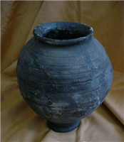 This Roman greyware storage pot was found at the Lunt Roman Fort and dates from 60 to 80.