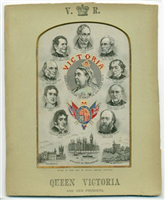 Silk picture,Queen Victoria and Her Premiers. A woven silk picture made by Thomas Stevens of Coventry. Stevens produced over a hundred different designs of silk pictures or Stevengraphs, as they were known.