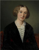 Mary Ann Evans, 'George Eliot' by Francois d'Albert-Durade (1804-1886)