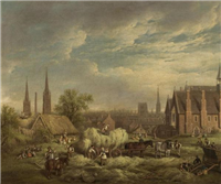 Haymaking at Coventry by David Gee (1793-1872)