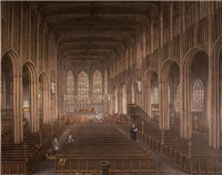 Interior of St Michael's Church, Coventry by David Gee (1793-1872)