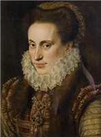 Portrait of a Woman attributed to Lucas de Heere (1534-1584)