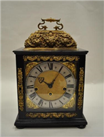 Bracket clock. This clock was made by Samuel Watson of Coventry between 1680 and 1690. Watson was one of the greatest clockmakers of his age and made clocks for King Charles II and Sir Isaac Newton.