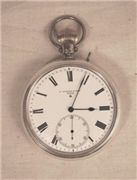 Chronometer. This Chronometer or deck watch, a type of watch used on ships to aid with navigation,was made by Joseph Player and Son of Coventry in 1896.
