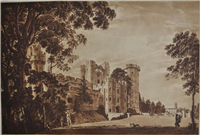 The Entrance of Warwick Castle from the Lower Court, No. 2 by Paul Sandby c.1775