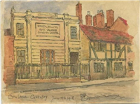 Cow Lane with Baker, Billing and Crows Charity School, Coventry by Sidney Bunney, 1918