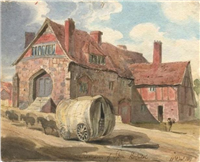 Remains of Spon Hospital by William Brooke, 1819